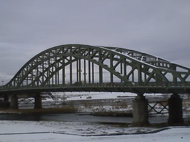 改修終了の旭橋と常磐公園