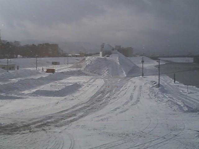 2010旭川雪祭り準備中