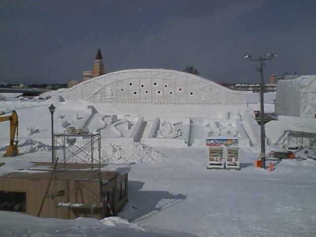 2010旭川雪祭り準備中②
